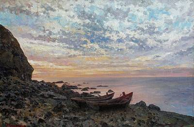 Shore Painting - Boats On The Shore by Andrey Soldatenko
