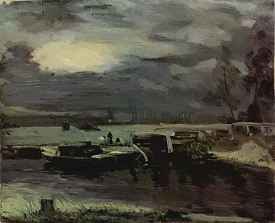 Painting - Boats On The Stour 1811 by Constable John
