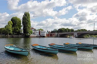 Photograph - Boats On The Thames At Hampton Court Uk by Julia Gavin