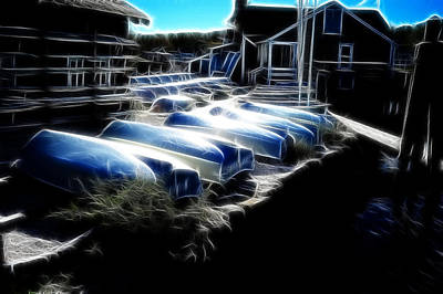 Photograph - Boats Peggys Cove by Lawrence Christopher