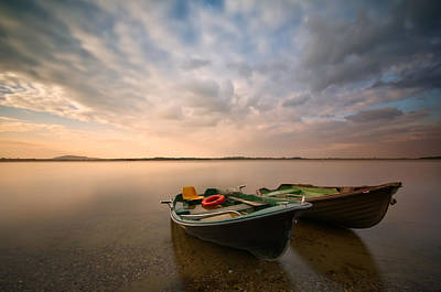 Morning Photograph - Boats by Piotr Krol (bax)