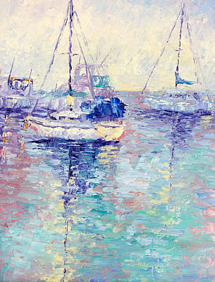 Boats Art Print by Terry  Chacon