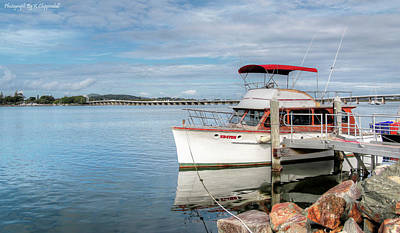 Digital Art - Boats Tuncurry 01 by Kevin Chippindall