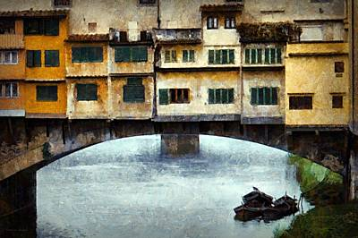 Digital Art - Boats Under The Ponte Vecchio by Patricia Strand