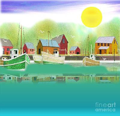 Painting - Boatside Harbor by Belinda Threeths