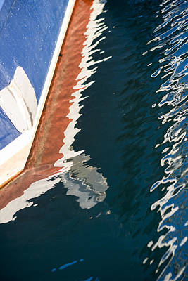 Photograph - Boatside Reflection by Robert Potts