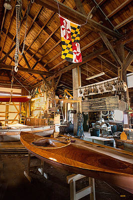 Photograph - Boatworks - Chesapeake Maritime Museum by Dana Sohr