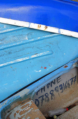 Photograph - Boaty Blue 2 by Jez C Self