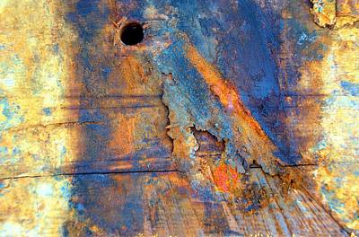 Photograph - Boatyard Abstract1 by Newel Hunter
