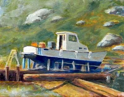 Painting - Boatyard II by William Reed