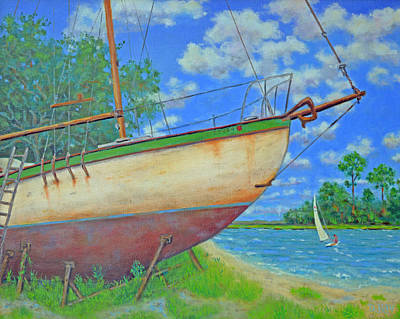 Painting - Boatyard On Shem Creek by Dwain Ray