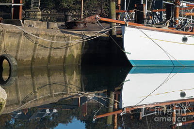 Photograph - Boatyard Reflections by Terri Waters