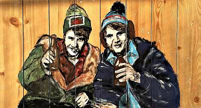 Hockey Art Painting - Bob And Doug Mckenzie by Carly Jaye Smith