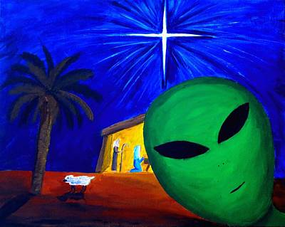 Painting - Bob At The Manger by Lola Connelly