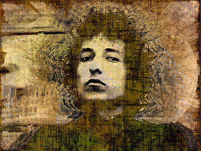Painting - Bob Dylan 1 by Tony Rubino
