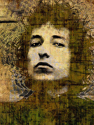 Bob Dylan 1 Vertical Art Print by Tony Rubino