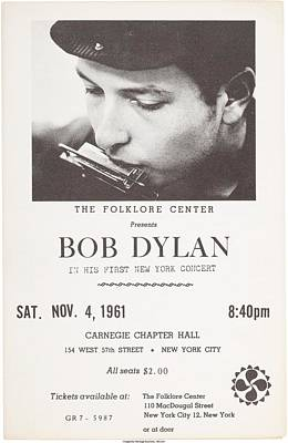Photograph - Bob Dylan 1961 Poster by Allen Beilschmidt