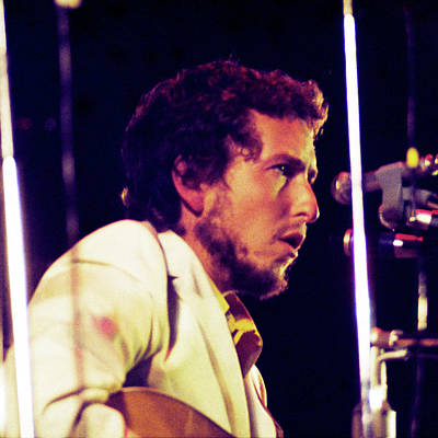 Photograph - Bob Dylan 1969 Isle Of Wight No3 -square Variation by Chris Walter