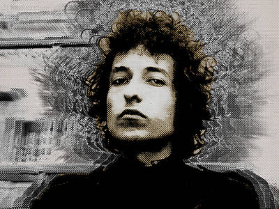 Bob Dylan 4 Art Print by Tony Rubino