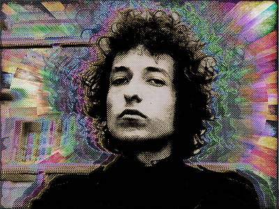 Bob Dylan 6 Art Print by Tony Rubino