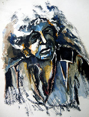 Bob Dylan Painting - Bob Dylan And Blues by Mindy Newman