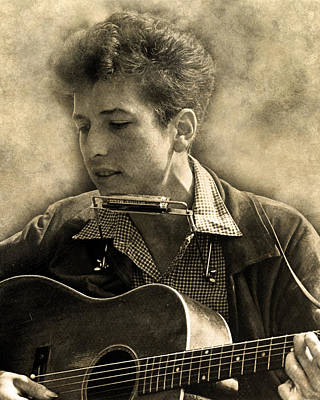 Digital Art - Bob Dylan by Anthony Murphy