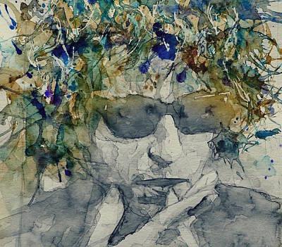 Bob Dylan Mixed Media - Bob Dylan Art - Retro - Just Like A Woman  by Paul Lovering