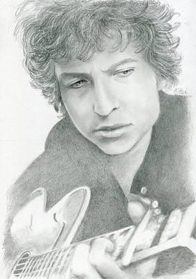Drawing - Bob Dylan by Bitten Kari