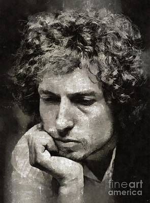 Music Royalty-Free and Rights-Managed Images - Bob Dylan by Mary Bassett by Mary Bassett