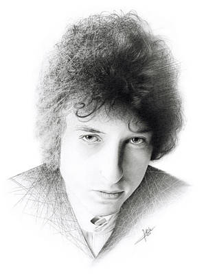 Dylan Drawing - Bob Dylan by Christian Klute