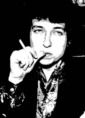 Icon Painting - Bob Dylan by Dan Carman