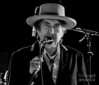 Bob Dylan Art Print by David Oppenheimer