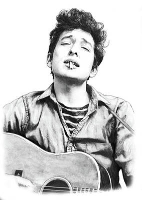 Bob Dylan Drawing Art Poster Art Print by Kim Wang