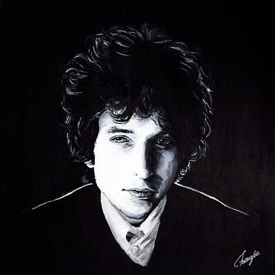 Highway 61 Revisited Painting - Bob Dylan by Francesca Agostini