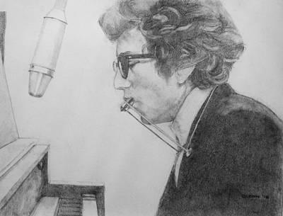 Bob Dylan Drawing - Bob Dylan by Glenn Daniels