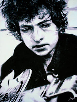 Painting - Bob Dylan by Hood alias Ludzska