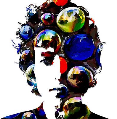 Rock And Roll Digital Art - Bob Dylan by Love Art