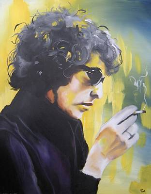 Painting - Bob Dylan by Matt Burke