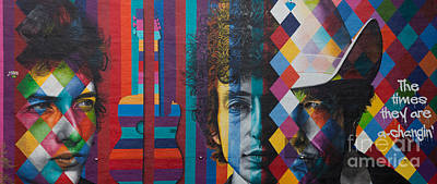 Bob Dylan Photograph - Bob Dylan Mural Minneapolis The Times They Are A Changin by Wayne Moran