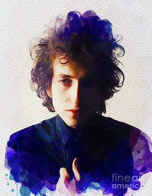 Painting - Bob Dylan, Music Legend by John Springfield