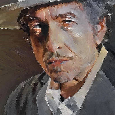 Bob Dylan Digital Art - Bob Dylan Oil Portrait by Yury Malkov