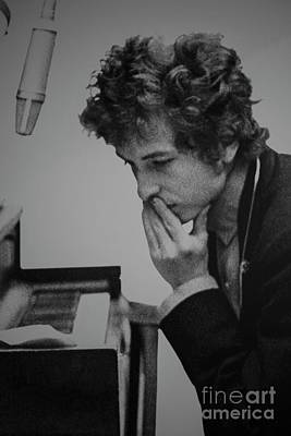 Photograph - Bob Dylan Pensive by David Bearden