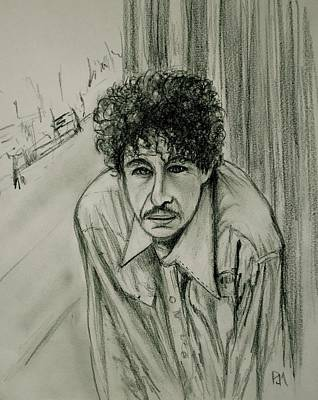 Drawing - Bob Dylan by Pete Maier