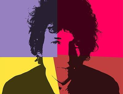 Bob Dylan Digital Art - Bob Dylan Pop Art Panels by Dan Sproul
