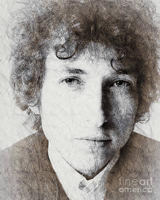 Bob Dylan Art Painting - Bob Dylan Portrait 03 by Pablo Romero