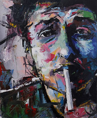 Vivid Colour Painting - Bob Dylan by Richard Day
