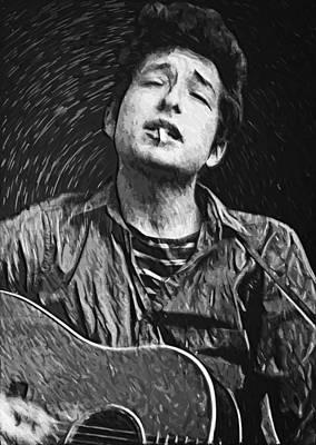 Bob Dylan Digital Art - Bob Dylan by Taylan Apukovska