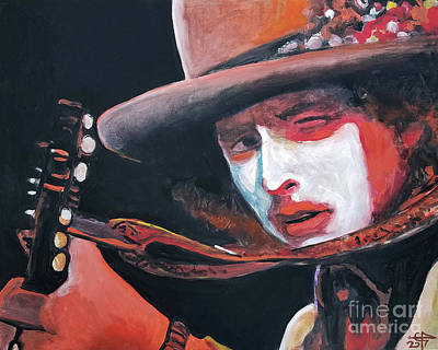 Painting - Bob Dylan by Tom Carlton