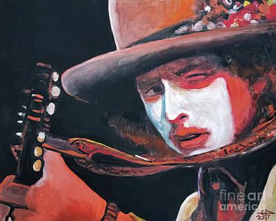 Painting - Bob Dylan by Tom Carlton