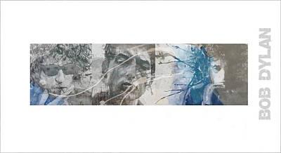 Bob Dylan Triptych Art Print
